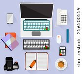 object tools for hard working. | Shutterstock .eps vector #256500559
