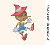 pinocchio theme elements | Shutterstock .eps vector #256505413