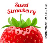 poster sweet strawberries.... | Shutterstock .eps vector #256513510