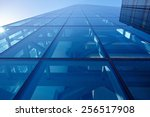 abstract closeup of the glass... | Shutterstock . vector #256517908