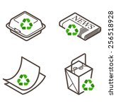 recycling icons   takeaway... | Shutterstock .eps vector #256518928