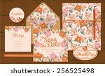 set of wedding cards  ... | Shutterstock .eps vector #256525498