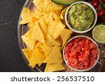 Green Guacamole With Nachos An...