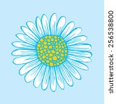 Flower Blue Background