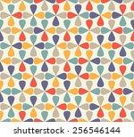 vintage mosaic pattern | Shutterstock .eps vector #256546144