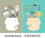 feeling between work and... | Shutterstock .eps vector #256546423