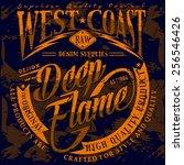 t shirt graphics west coast... | Shutterstock .eps vector #256546426