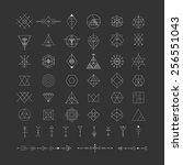 set of vector trendy geometric... | Shutterstock .eps vector #256551043