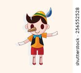 pinocchio theme elements | Shutterstock .eps vector #256552528