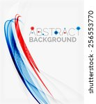 fresh blue and red wave line.... | Shutterstock .eps vector #256553770