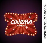 cinema retro billboard | Shutterstock .eps vector #256556773