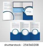 tri fold business brochure... | Shutterstock .eps vector #256560208