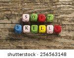 soft skills | Shutterstock . vector #256563148