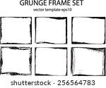 grunge frame set. vector...   Shutterstock .eps vector #256564783