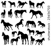 horse vector collection | Shutterstock .eps vector #25656703
