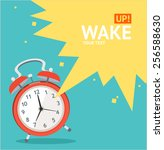 vector illustration red wakeup... | Shutterstock .eps vector #256588630