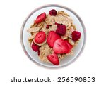 Bowl With Cereals And Fruits O...