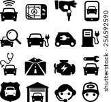 automobile icons | Shutterstock .eps vector #256592590