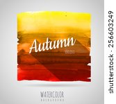 watercolor abstract background. ... | Shutterstock .eps vector #256603249