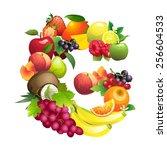 illustration letter g composed...   Shutterstock . vector #256604533