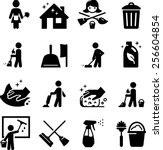 maid services  janitorial and... | Shutterstock .eps vector #256604854