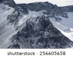snow mountain area in winter - stock photo