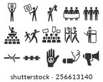 protest vector illustration... | Shutterstock .eps vector #256613140