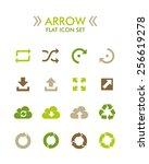 vector flat icon set   arrow   Shutterstock .eps vector #256619278