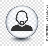 bald man with mustache on... | Shutterstock .eps vector #256621423