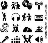 dance and music icons. vector... | Shutterstock .eps vector #256626988