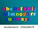 colorful alphabet magnetic... | Shutterstock . vector #256628674