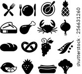 food and restaurant icons | Shutterstock .eps vector #256631260