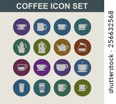 coffee icon set | Shutterstock .eps vector #256632568