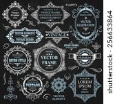 vector vintage collection ... | Shutterstock .eps vector #256633864