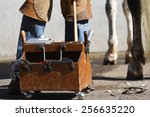 Box With Farrier Tools
