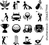 golf icon set. vector icons for ... | Shutterstock .eps vector #256637944