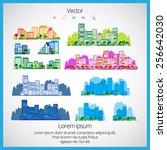 city  vector   Shutterstock .eps vector #256642030