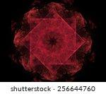 colorful fractal rings  digital ...   Shutterstock . vector #256644760