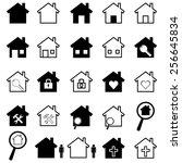 house icons set | Shutterstock .eps vector #256645834