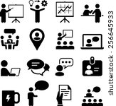 seminar and meeting icons | Shutterstock .eps vector #256645933