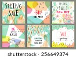 spring sale design. collection... | Shutterstock .eps vector #256649374