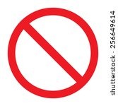 not allowed sign | Shutterstock .eps vector #256649614
