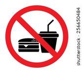 no eating vector sign | Shutterstock .eps vector #256650484