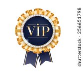 vip vector round badge with... | Shutterstock .eps vector #256651798