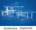 house blueprint | Shutterstock . vector #256654294