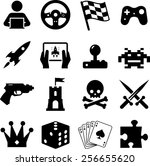 assorted video game  icons and...