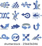 arrows and directional pointers ... | Shutterstock .eps vector #256656346