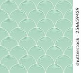 seamless turquoise japanese art ... | Shutterstock .eps vector #256659439