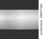 metallic banner | Shutterstock .eps vector #256677160
