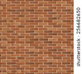brick wall made of light brown... | Shutterstock . vector #256682650